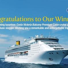 FILA Costa Cruise Winners